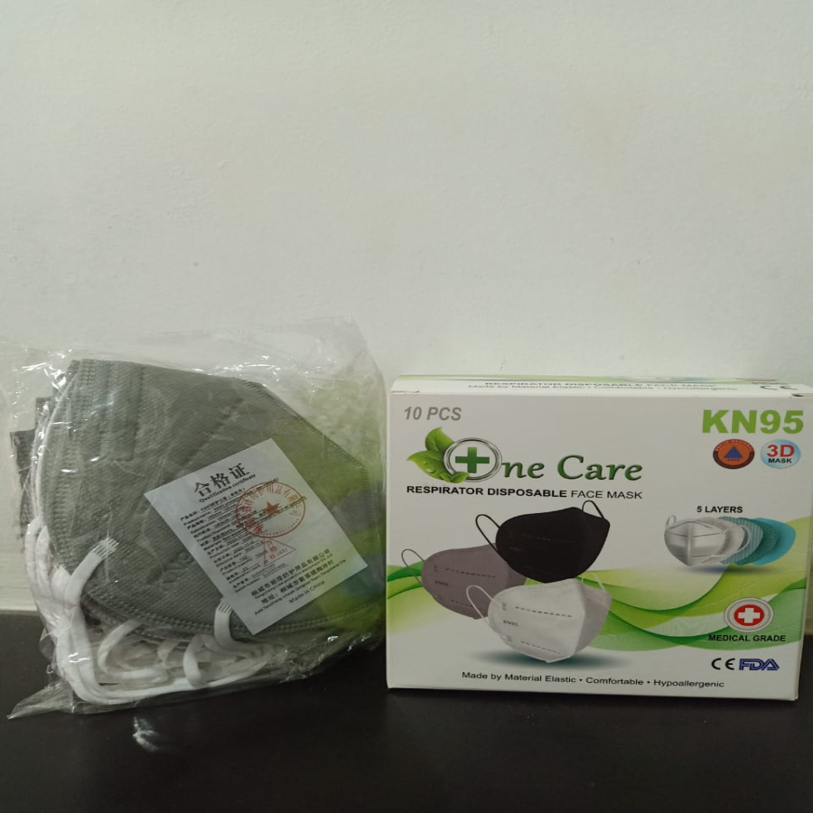 Masker KN95 Respirator 5ply One Care isi 10 pcs