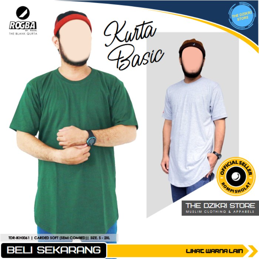 Kaos Casual Kurta Basic Rogba by ROSAL Original