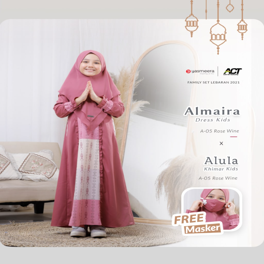 ALMAIRA DRESS KIDS M-XL (FAMILY SET SERIES 2021)