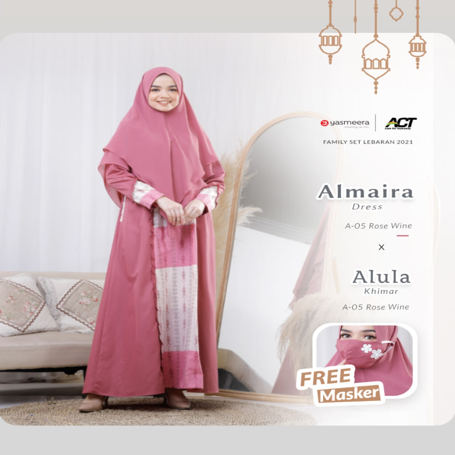 ALMAIRA DRESS XXL-4XL (FAMILY SET SERIES 2021)
