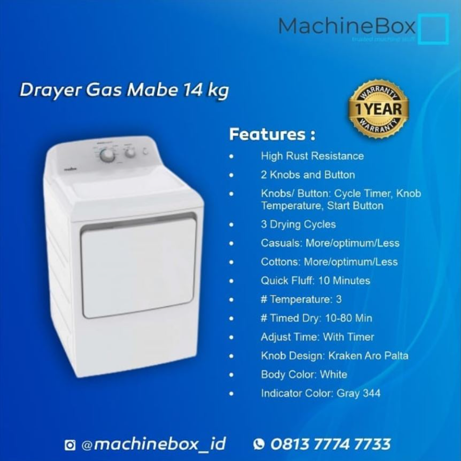 Drayer Gas Mabe 14 Kg